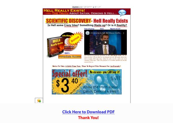 Hell Really Exists PDF Free Download