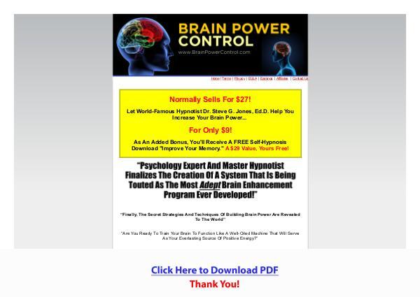 Brain Power Control PDF Free Download