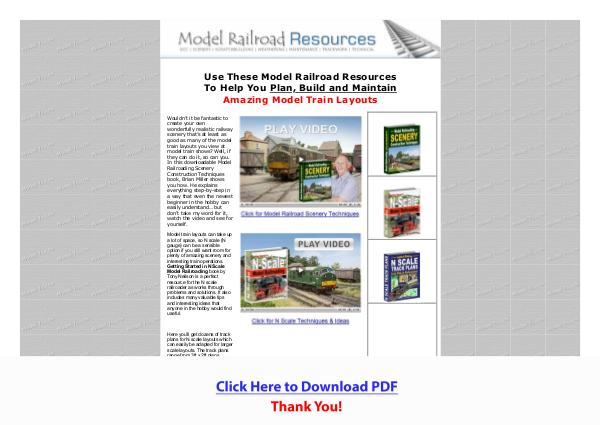 Model Train Layout Ideas, Tips & Answers PDF Free Download