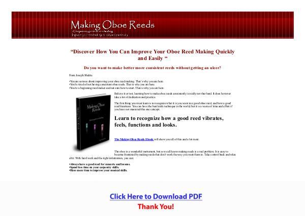 Making Oboe Reeds PDF Free Download