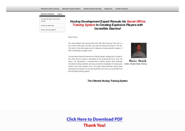 Ultimate Hockey Training PDF Free Download