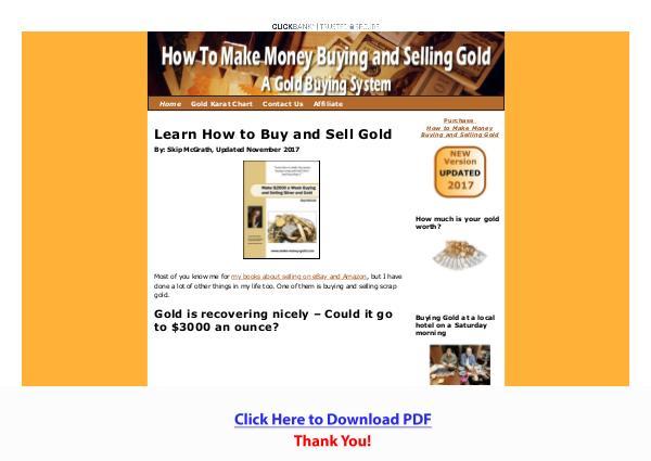 Make Money Buying And Selling Gold PDF Free Download