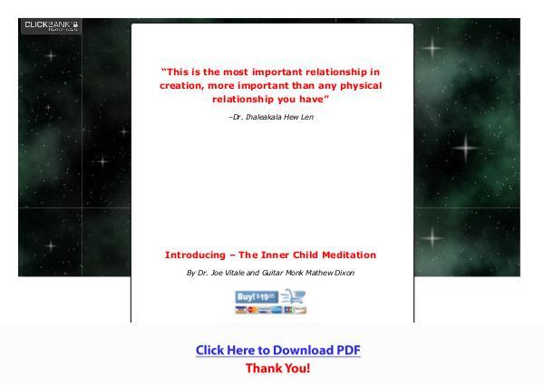 Dr. Joe Vitale's Inner Child Meditation PDF Free Download