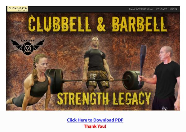 Clubbell & Barbell Strength Legacy PDF Free Download