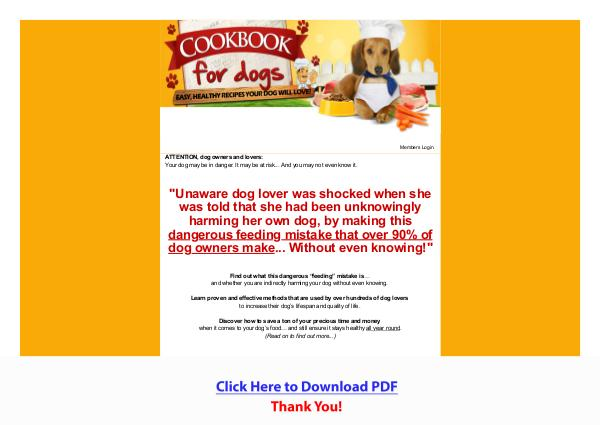 Cookbook For Dogs PDF Free Download