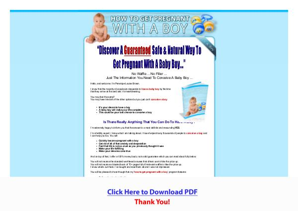 How To Get Pregnant With A Boy PDF Free Download