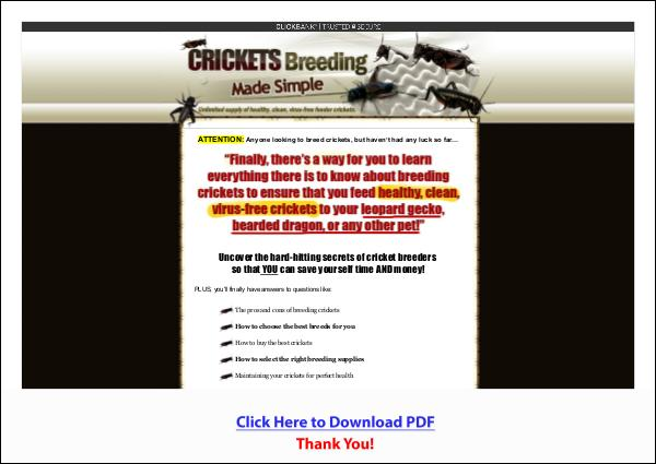 Crickets Breeding Made Simple PDF Free Download