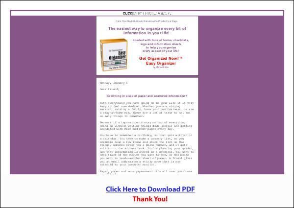 Easy Organizer PDF Free Download