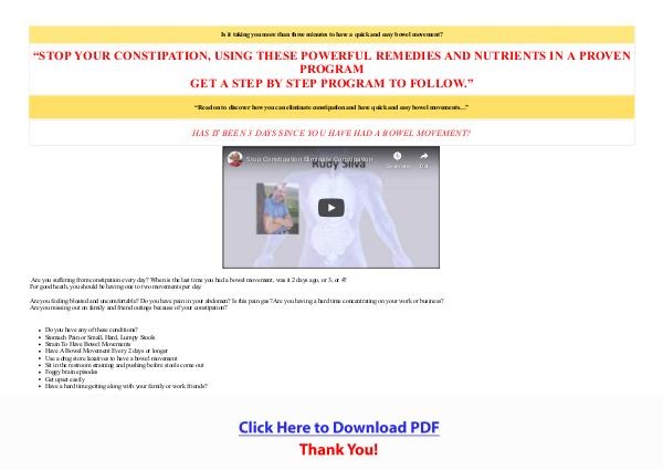 Natural Remedies For Constipation PDF Free Download