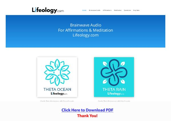 Brainwave Audio For Affirmations & Meditation By Lifeology.com [PDF]