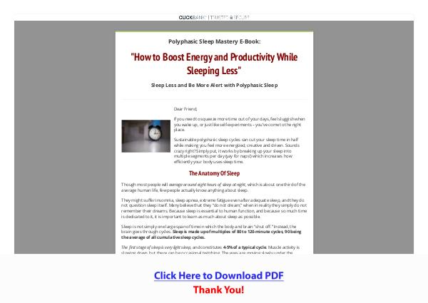 Polyphasic Sleep Mastery PDF Free Download