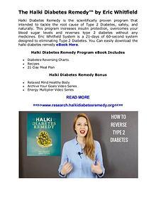 [PDF] Halki Diabetes Remedy™ Ingredients by Eric Whitfield