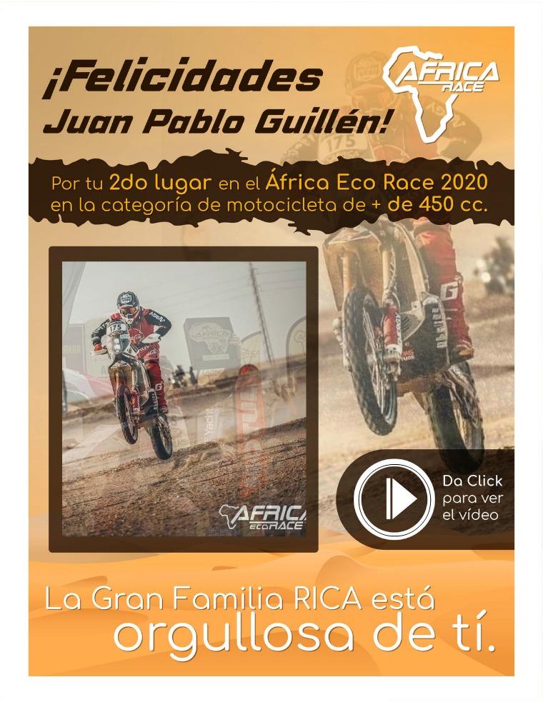 COMUNICACIÓN INTERNA Felicitamos a Juan Pablo Guillén