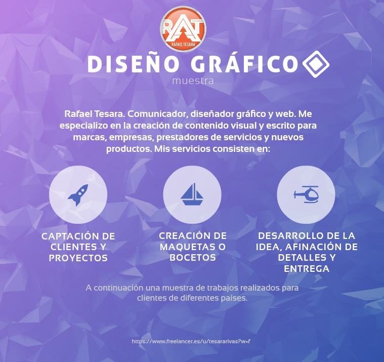 Rafael Tesara Diseño gráfico freelance Portafolio de diseño