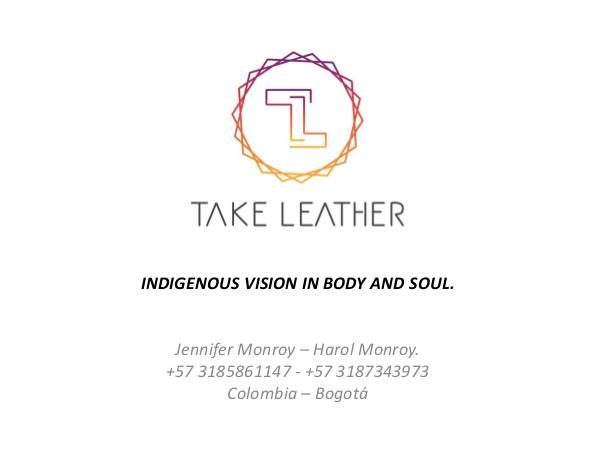 TAKE LEATHER CATALOGO TAKE LEATHER 2019 IN