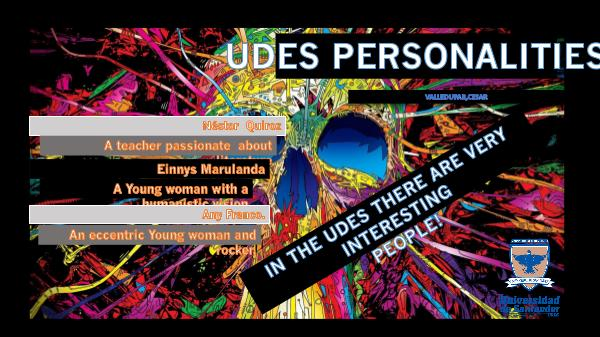 UDES PERSONALITIES revista de ingles