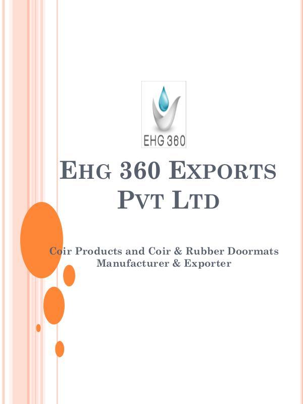 Coir Products & Coir & Rubber Doormats Manufacturer & Exporter Coir Products & Coir & Rubber Doormats Manufacture
