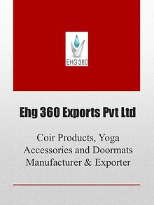 Coir Products, Yoga Accessories and Doormats Manufacturer & Exporter