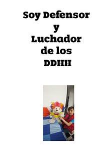 Soy defensor y luchador de los DDHH