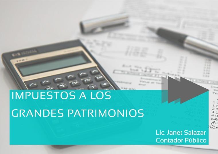 IMPUESTOS A LOS GRANDES PATRIMONIOS Noviembre 2020