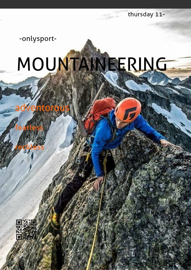 MOUNTAINEERING Mountaineering.