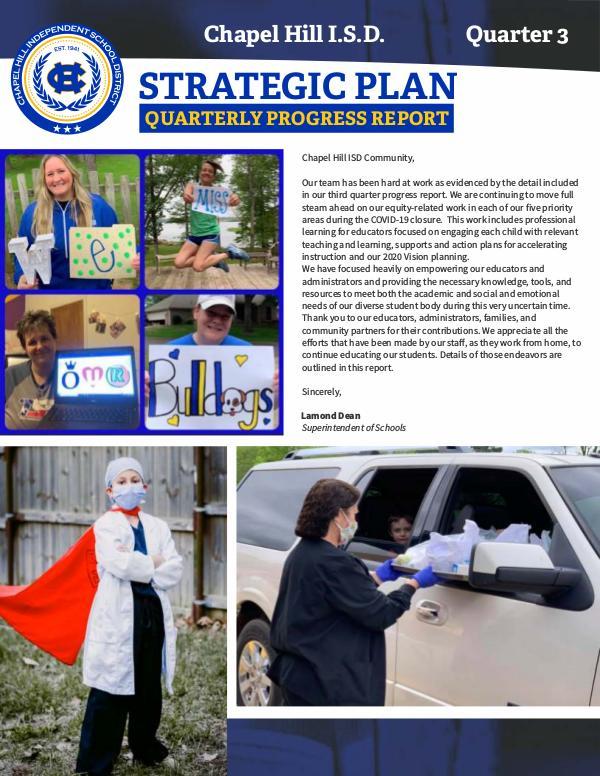 Strategic Plan: Quarter III Progress Report Chapel Hill-Q3 Newsletter WEB