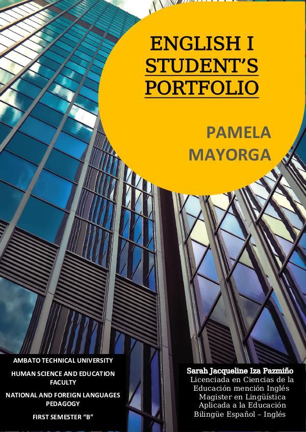 ENGLISH PORTFOLIO ENGLISH 1 PORTFOLIO