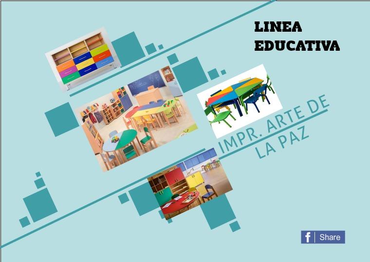Mi primera publicacion catalogo Linea educativa.