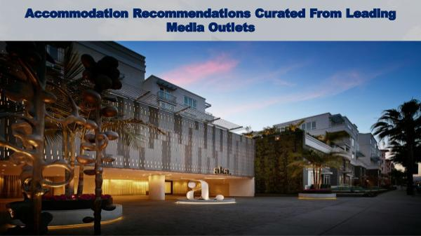 RecommendedRoom Accommodation Recommendations Curated From Leading