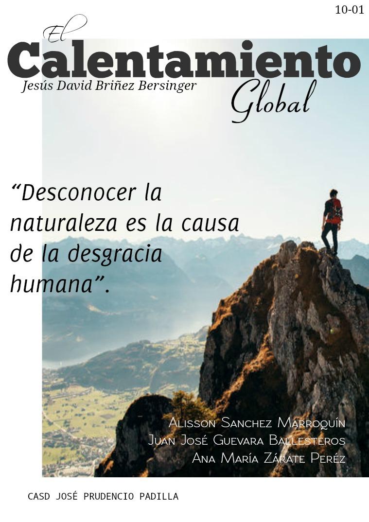 El Calentamiento Global 4/11/19
