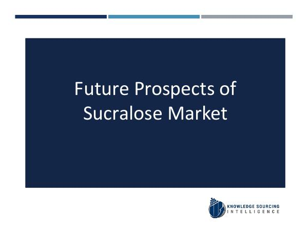 Sucralose Market Analysis