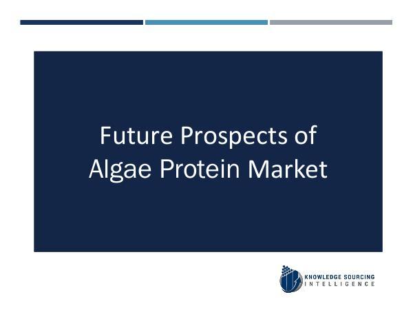 Knowledge Sourcing Intelligence Algae Protein Market