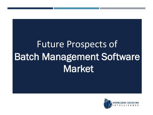 Batch Management Software Market