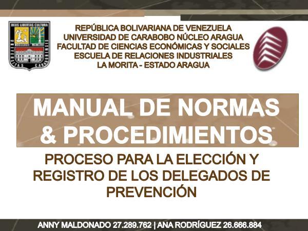 Manual de Normas y Procedimientos para la Elección y Registro de DP MANUAL DE NORMAS Y PROCEDIMIENTOS PARA LA ELECCION