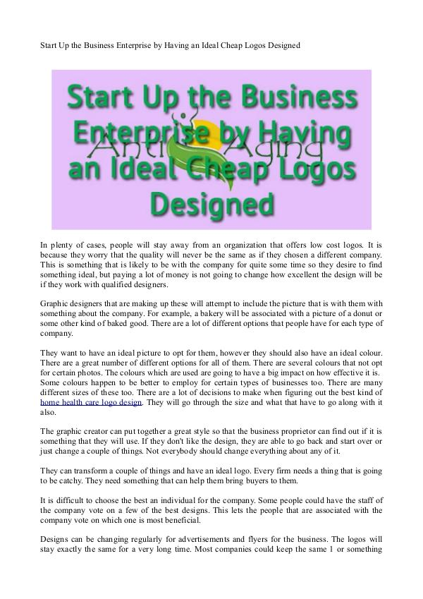 Start Up the Business Enterprise by Having an Idea