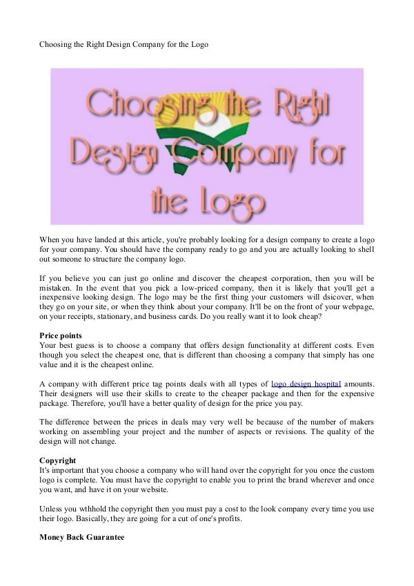 Healthcare Logo Design Choosing the Right Design Company for the Logo