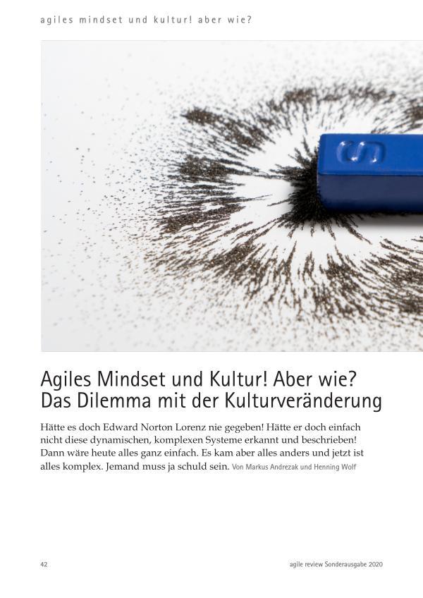 Agiles Mindset und Kultur!