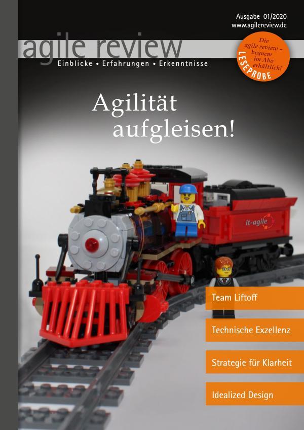 agile review Leseprobe Agilität aufgleisen! (2020/1)