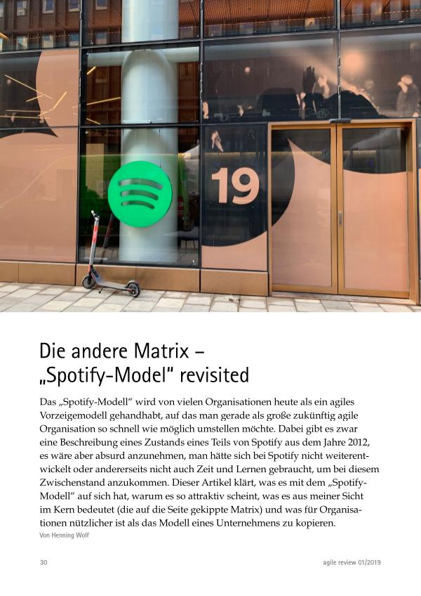 """Die andere Matrix – """"Spotify-Model"""" revisited"""