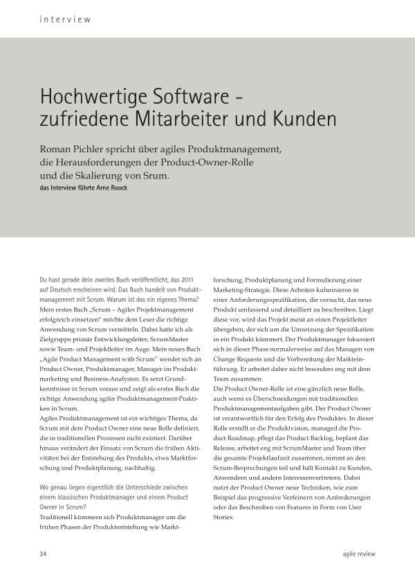 ... schneller als die Konkurrenz! (2011/1) Hochwertige Software - zufriedene Mitarbeiter und