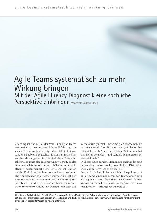 Agile Teams systematisch zu mehr Wirkung bringen(c
