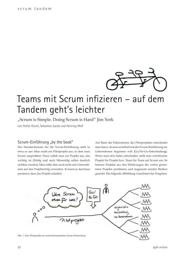 Veränderung willkommen (2012/1) Teams mit Scrum infizieren – auf dem Tandem geht's