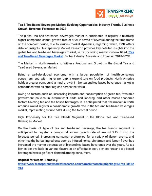 Tea & Tea Based Beverages Market: Evolving Opportunities, Industry Tr Tea & Tea Based Beverages Market