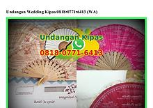 Undangan Wedding Kipas 0818.0771.6413[wa]