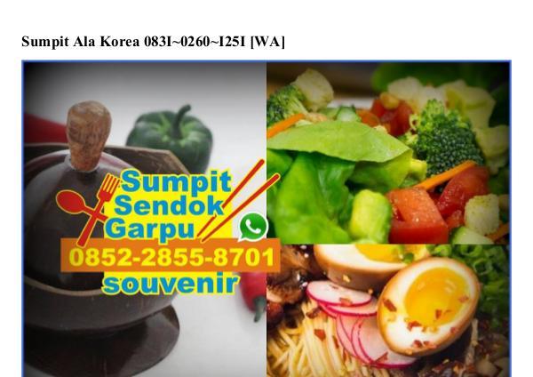 Sumpit Ala Korea Ö831–Ö26Ö–1251[wa] sumpit ala korea