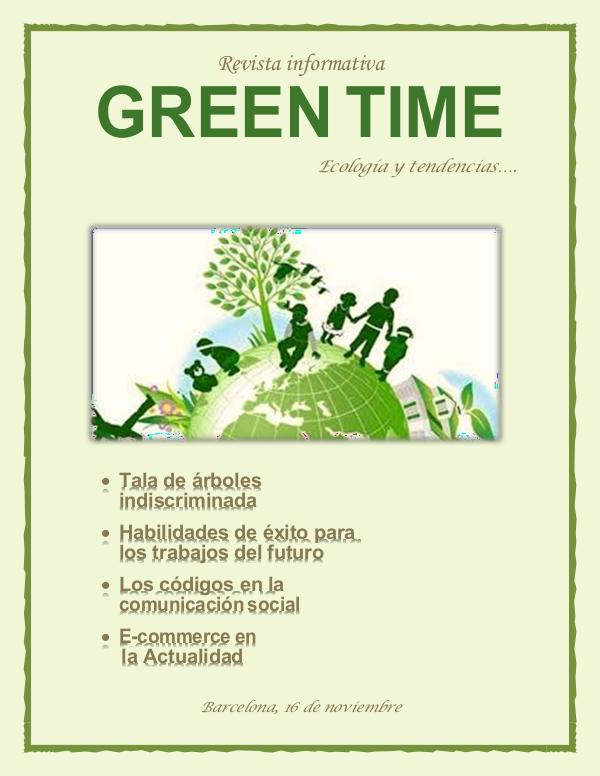 REVISTA GREEN TIME GREEN TIME