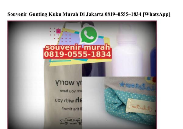 Souvenir Gunting Kuku Murah Di Jakarta Ö819–Ö555–1834[wa] souvenir gunting kuku murah di jakarta
