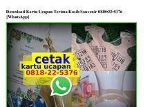 Download Kartu Ucapan Terima Kasih Souvenir 0818~22~5376[wa]