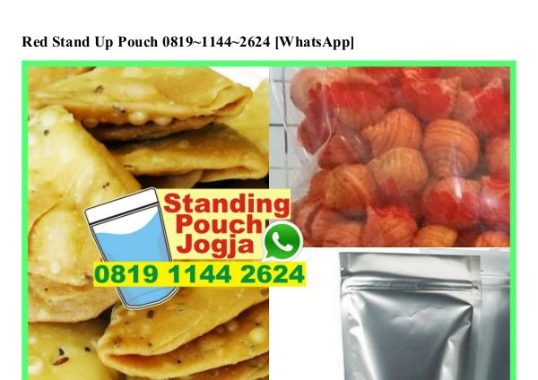 Red Stand Up Pouch 0819–1144–2624[wa] red stand up pouch