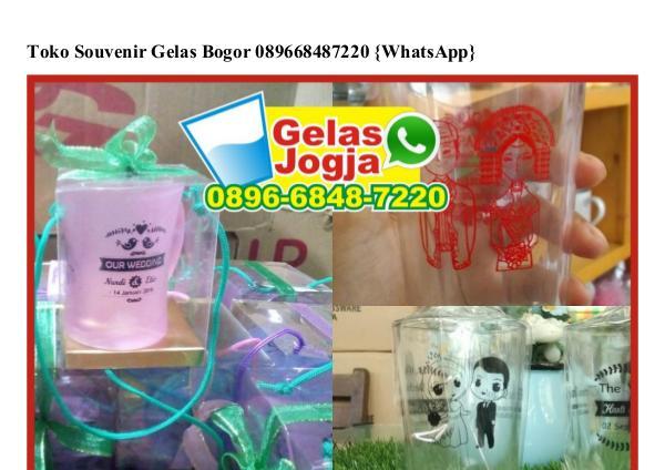 Toko Souvenir Gelas Bogor 089668487220[wa] toko souvenir gelas bogor